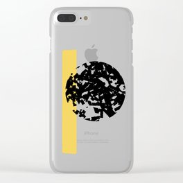 Abstract Moon #society6 #abstractart Clear iPhone Case