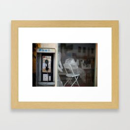Connection Disconnection Framed Art Print