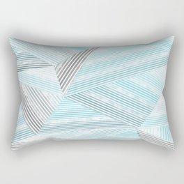 Blue lines 2 Rectangular Pillow