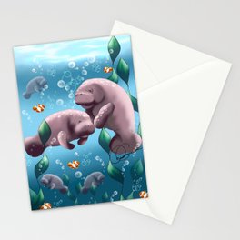 Manatee & Baby Stationery Cards