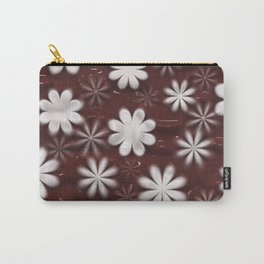 Melted Chocolate and Milk Flowers Pattern Carry-All Pouch