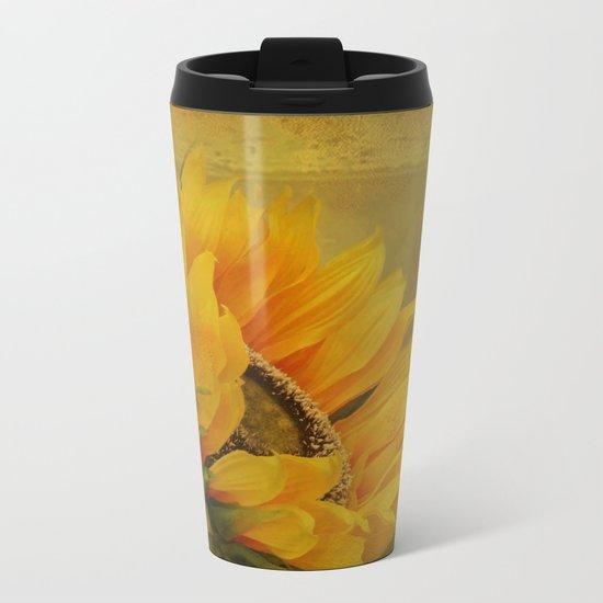 Sunflower Magic Metal Travel Mug