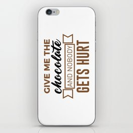 Stay Safe Keep Calm Eat Chocolate Safety Funny Design iPhone Skin