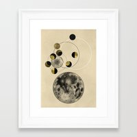 the moon Framed Art Prints featuring Moon by J Arell