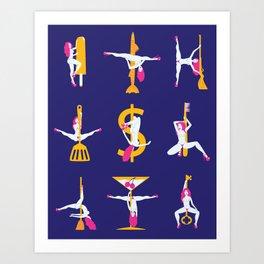 Strippers Art Print
