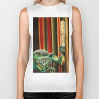 """haunted mansion Biker Tanks featuring Disneyland Haunted Mansion inspired """"Wall-To-Wall Creeps No.2"""" by ArtisticAtrocities"""