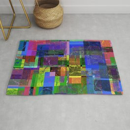 Colorful layered pattern 2 Rug