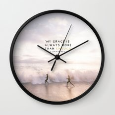 MORE THAN ENOUGH GRACE Wall Clock