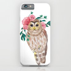 Owl with flower crown iPhone 6s Slim Case