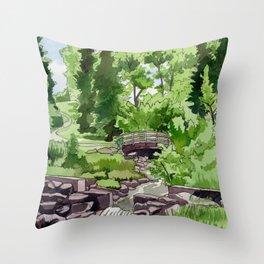 Little Confederation Park Bridge Throw Pillow