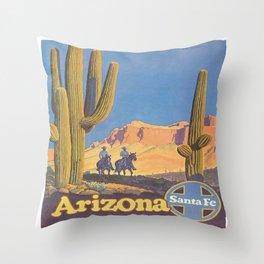 Vintage poster - Arizona Throw Pillow