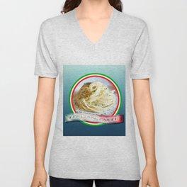 Food. Rolled spaghetti. Italian taste. Unisex V-Neck