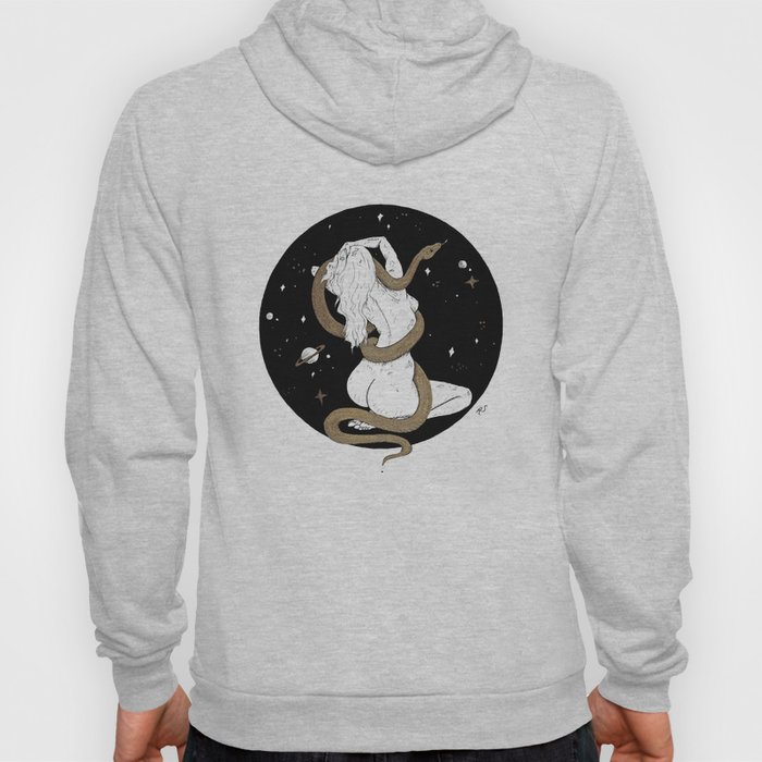 Space Goddess and the Golden Snake Hoody