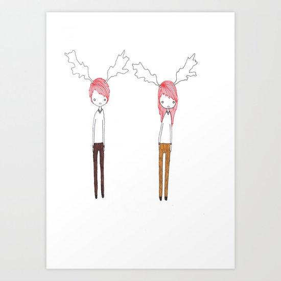 Two Best Friends Art Print