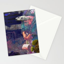 float microorganism Stationery Cards
