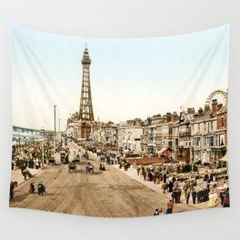 The Promenade at Blackpool, Lancashire, England 1898 Wall Tapestry