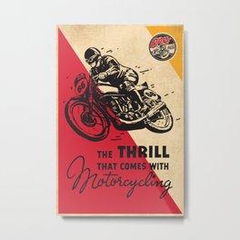 Vintage poster - Motorcycling Metal Print