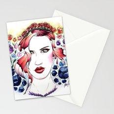 Technicolor Flower Portrait Stationery Cards