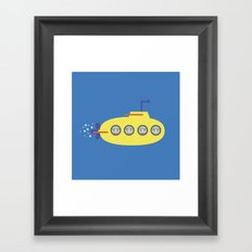 The Beagles - Yellow Submarine Framed Art Print