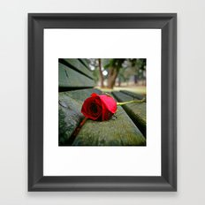 Time has a numbing effect Framed Art Print