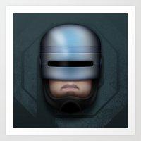 Icon Series 4: (Cyborgs 1/3) Alex Murphy AKA RoboCop Art Print