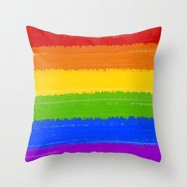 Rainbow Pride Flag Throw Pillow