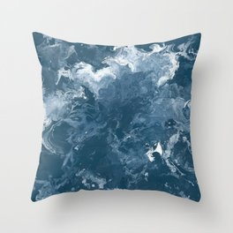 Oceanic Flow Throw Pillow