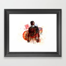 THE MAN WITHOUT FEAR Framed Art Print