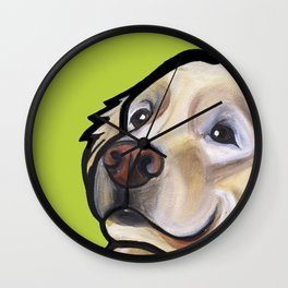 George the golden retriever Wall Clock