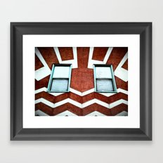 HAPPY HOUSE. Framed Art Print