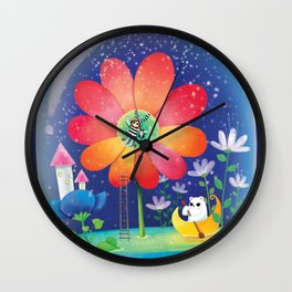 falling star Wall Clock