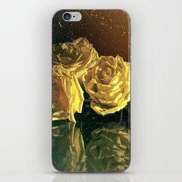 Yellow Vintage Roses iPhone Skin