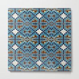 Persian Tile Mosaic Geometric Pattern Metal Print