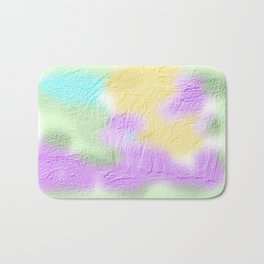 Thick pastel painted texture Bath Mat