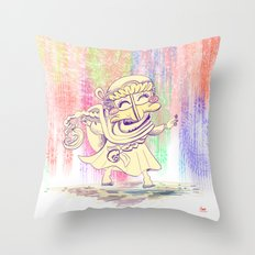 MAMA OUDA WHEN IT RAINed Throw Pillow