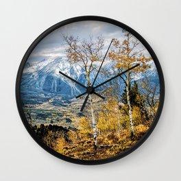 Colorado Autumn Wall Clock