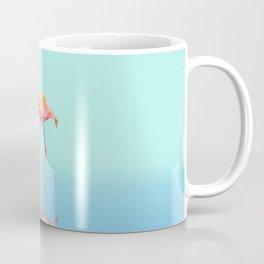 Low Poly Flamingo with reflection Coffee Mug