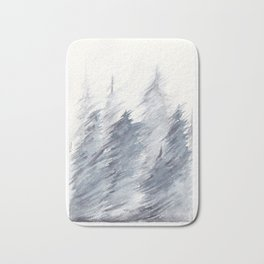 Snow Storm Bath Mat