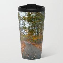 Through the leaves Metal Travel Mug