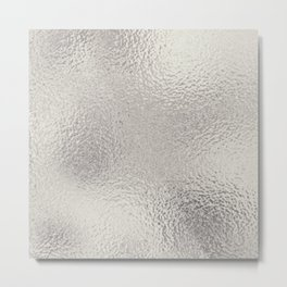 Simply Metallic in Silver Metal Print