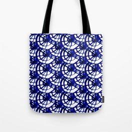 Shibori Curly Maze Tote Bag