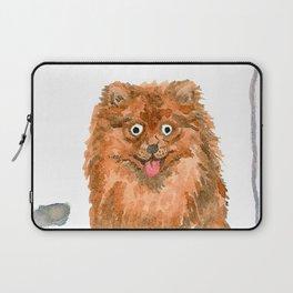 Pomeranian with balloons Laptop Sleeve