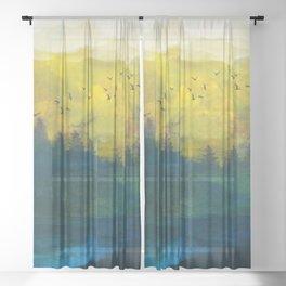 Mountain Lake Sheer Curtain