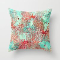 butterfly Throw Pillows featuring Butterfly Pattern by Klara Acel