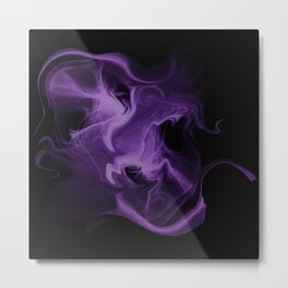 Magic ink abstract fractal purple Metal Print