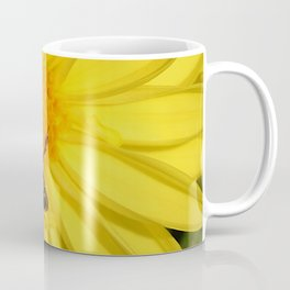 Bee on Yellow Flower Coffee Mug