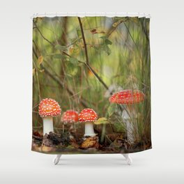 Toadstools like in a fairytale Shower Curtain