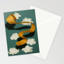 Gold TP in the Clouds Stationery Cards