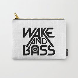 Wake And Bass (Black) Carry-All Pouch