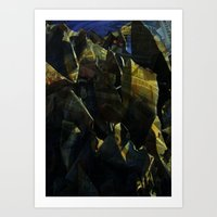titan Art Prints featuring titan by Bamboo blue
